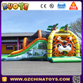 Tiger Inflatable Combo Slide Bouncer Cheap Jumping Bouncer House