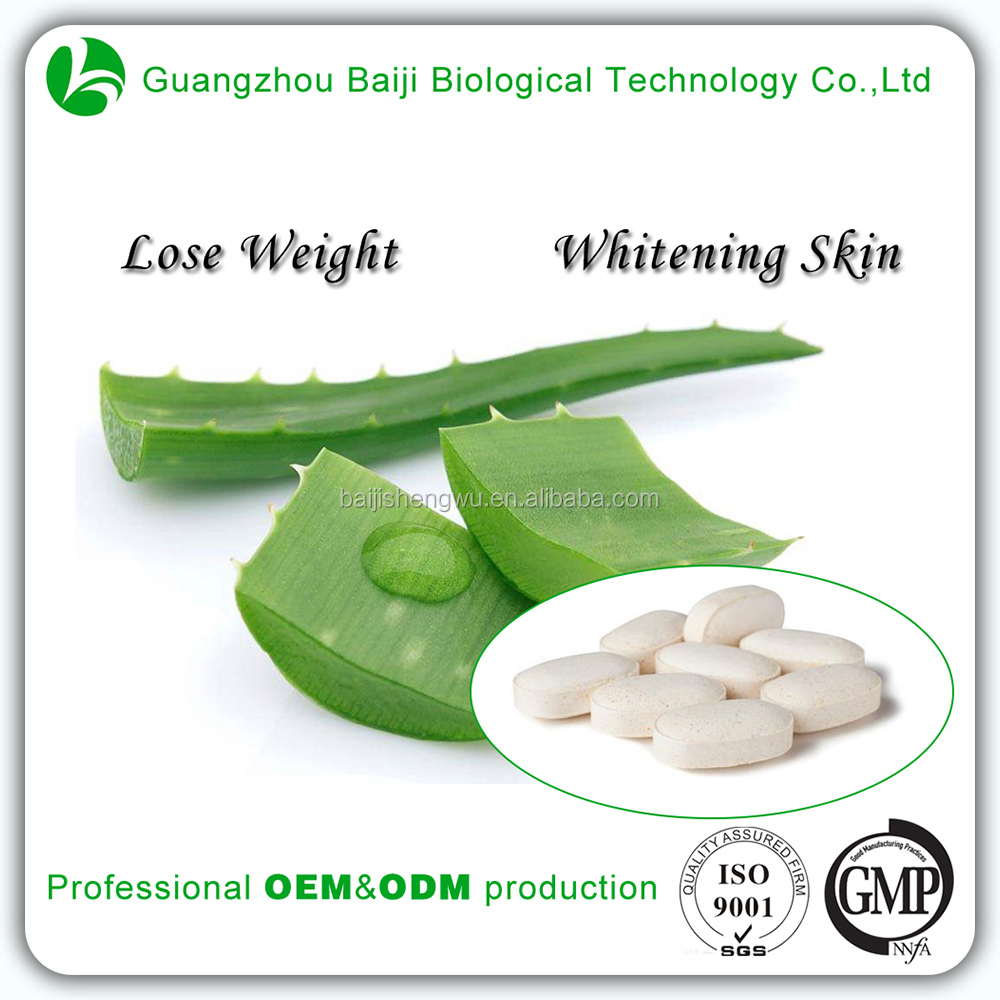 Gmp Certified Natural Health Food Laxative Detox Aloe Vera Tablet