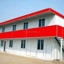 slope roof top steel prefab house