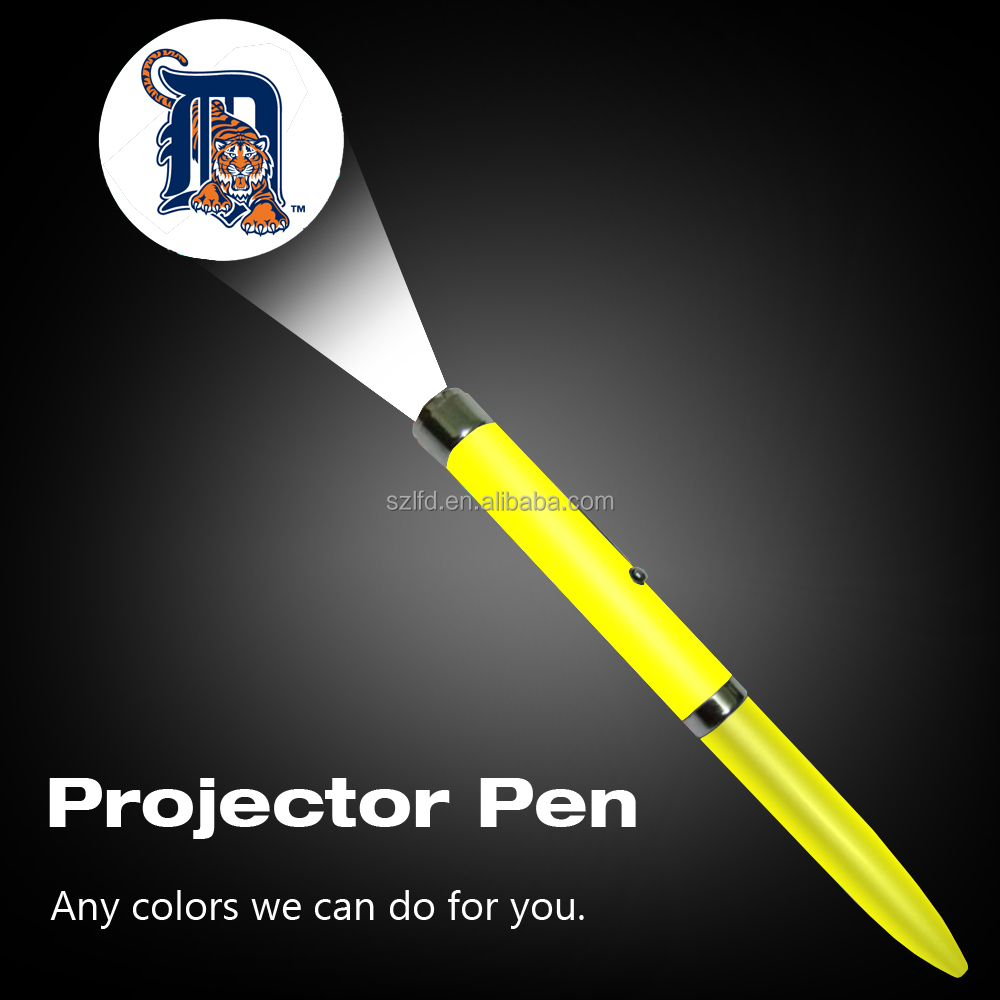 High quality factory sell led projector logo pen custom <strong>design</strong> logo ballpen torch lights