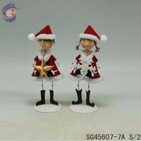 Christmas boy and girl home decoration/gifts for newly married couple