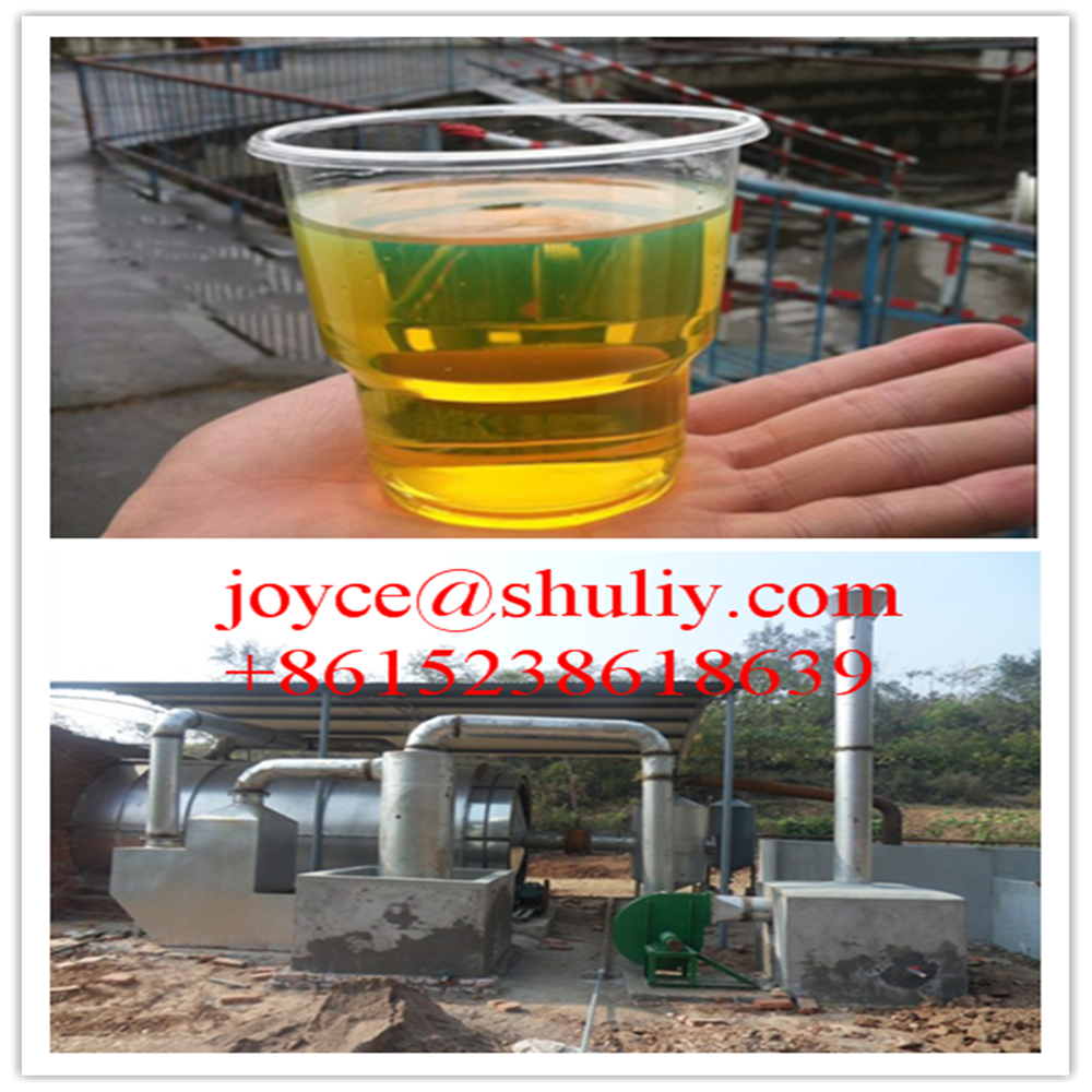 waste tire recycling to diesel continuous plastic to oil machine waste oil to diesel distillation plant