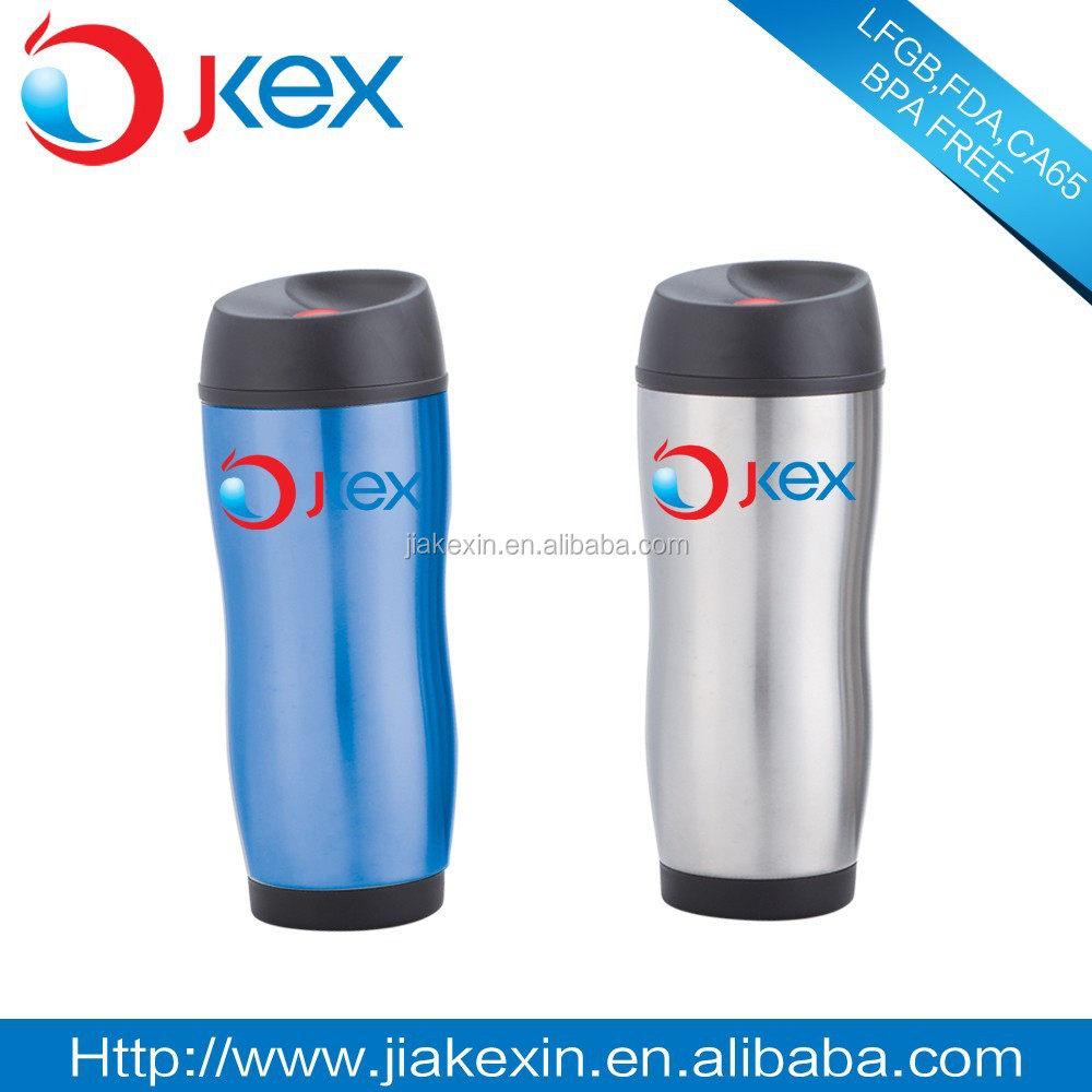 Stainless steel Coffee Travel Mug With Press button Lid