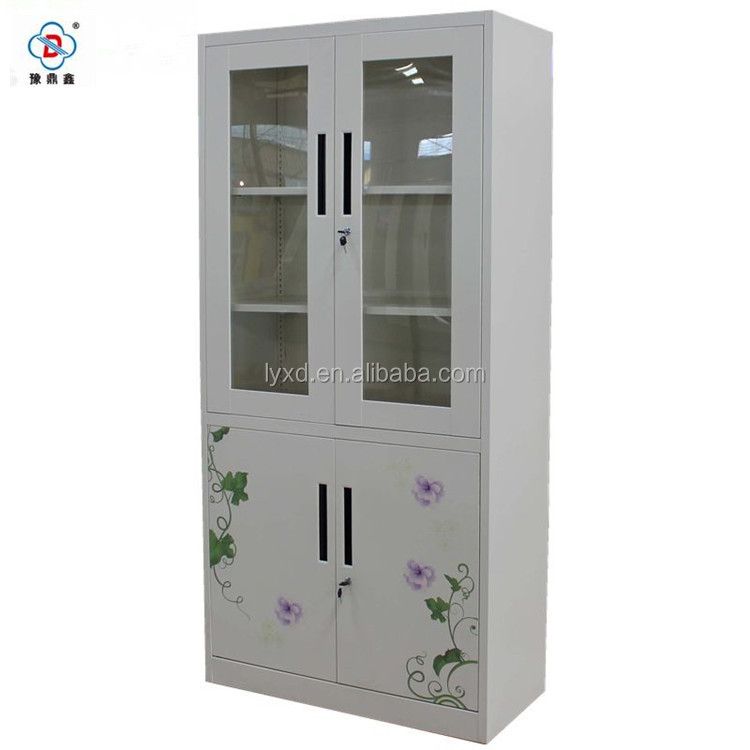 Hot promotion top quality ironing board storage cabinet with painted flower