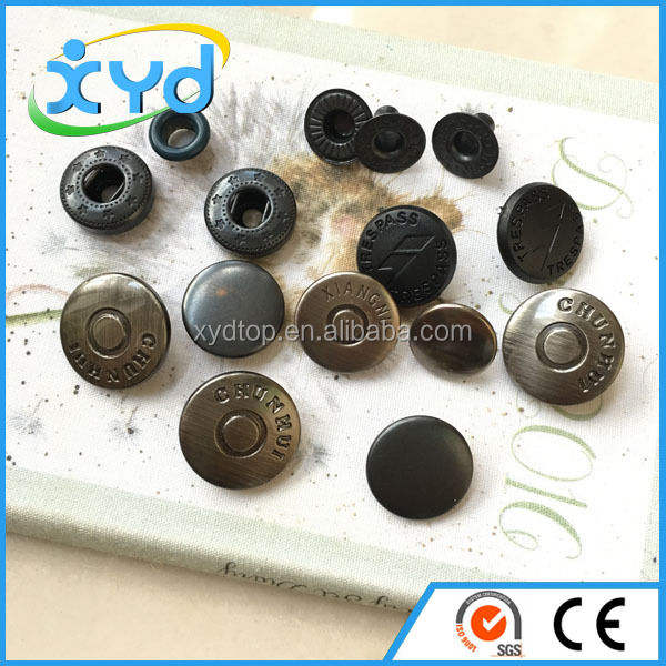 Four parts copper snap button bulk snap fasteners for garment