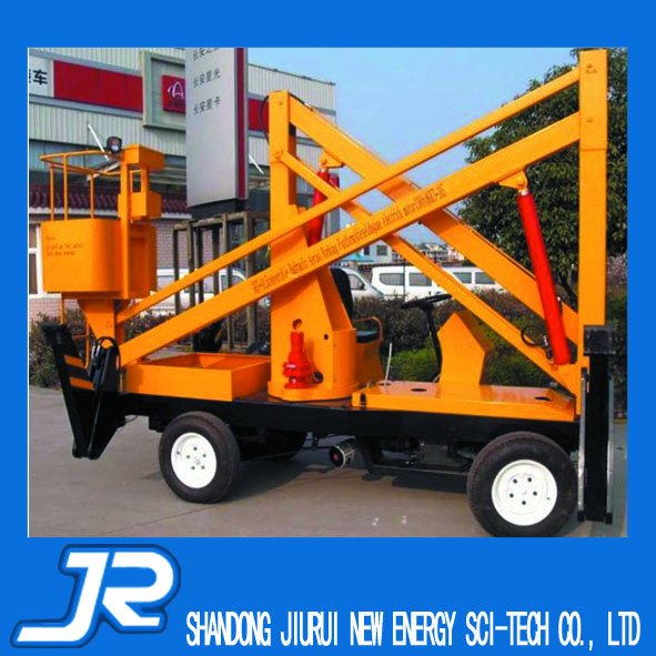 Diesel power spider lift can cross the barrier