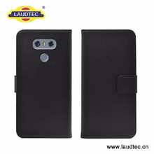 Leather Wallet Case Magnetic Closure Stand Flip Protective Cover Case for LG G6