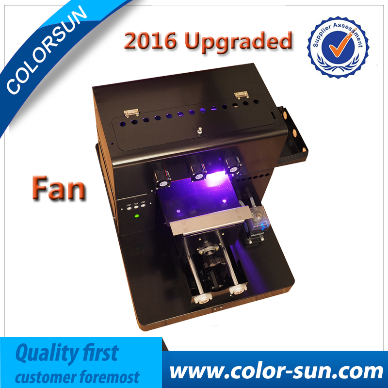 high quality small format destop A4 UV flatbed printer with fans