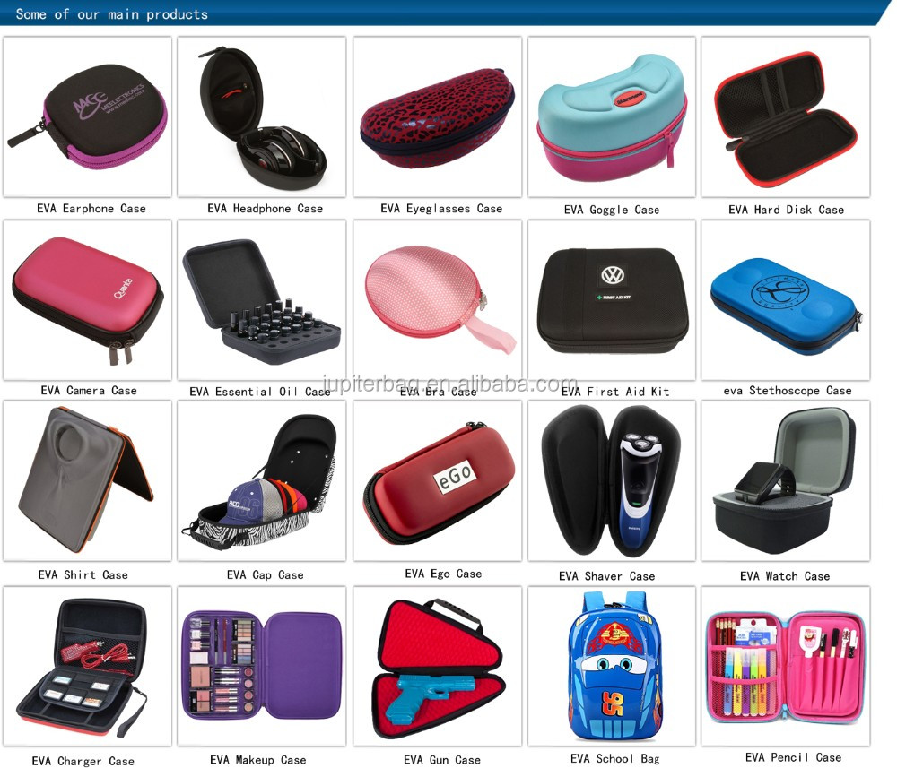 eva earphone storage case, eva earset case