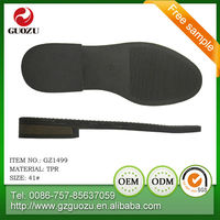 latest men tpr dress shoe sole design