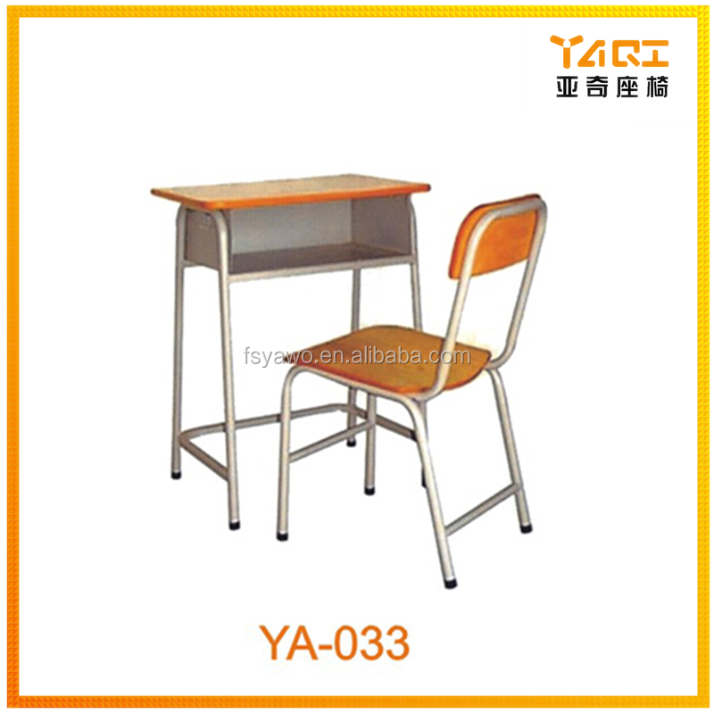 Good iron metal material student furniture used school desk chair