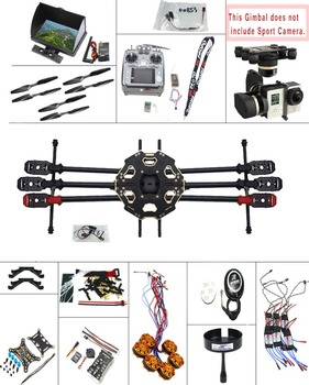 F07807-H JMT DIY 2.4G 10CH PX4 GPS 5.8G FPV 680PRO RC drone Unassembled Full Kit ARF No Battery RC Drone MINI3D Pro Gimbal