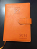 personal customized yearly agenda planner notebook with pen holder