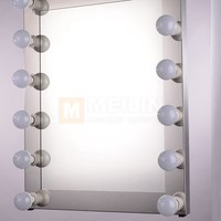 ML-605 Best Wall Mounted Lighted Makeup Mirror Behind Bathroom Mirror Light