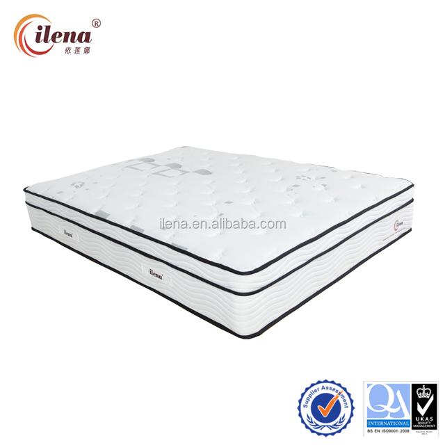 High density memory foam pocket spring mattress