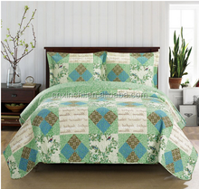 100% polyester Printed Bed Sheet Patchwork Quilt Stocked