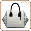 Guangzhou factory high quality snakeskin leather woman hand bag women's bag python tote shoulder bag