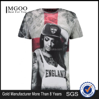 MGOO Hot Sale Cotton Polyester Blend Custom Screen Printing Street Wear Clothing Your Own Brand