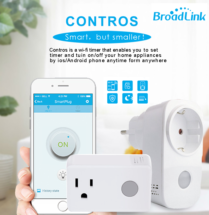 Broadlink SP3 SP CC Home 16A Timer EU US Wifi Power Socket Plug Outlet Wireless