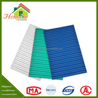Chinese roof design long term color stability large plastic sheet