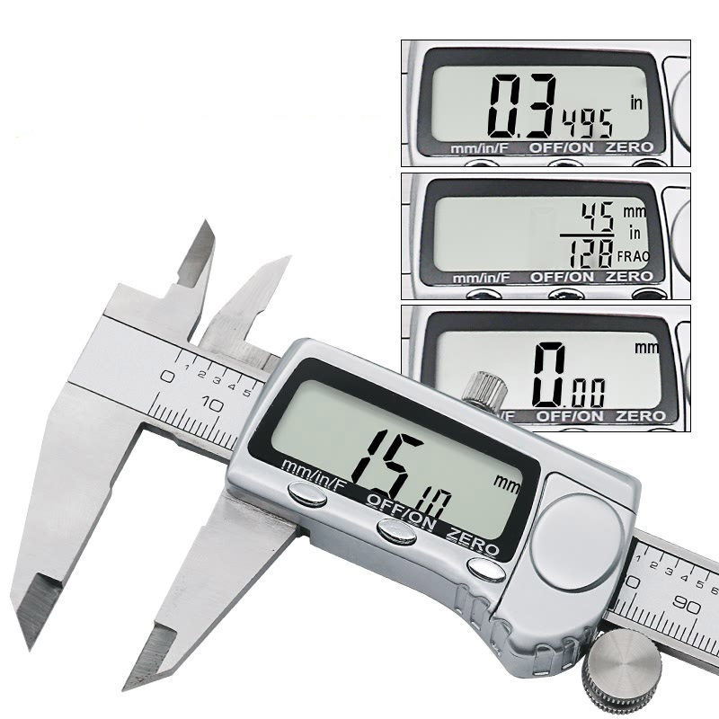 Inch Metric Fractions Conversion 0-6 Inch 150 mm Stainless Steel Caliper Digital Extra Large LCD Digital Vernier caliper