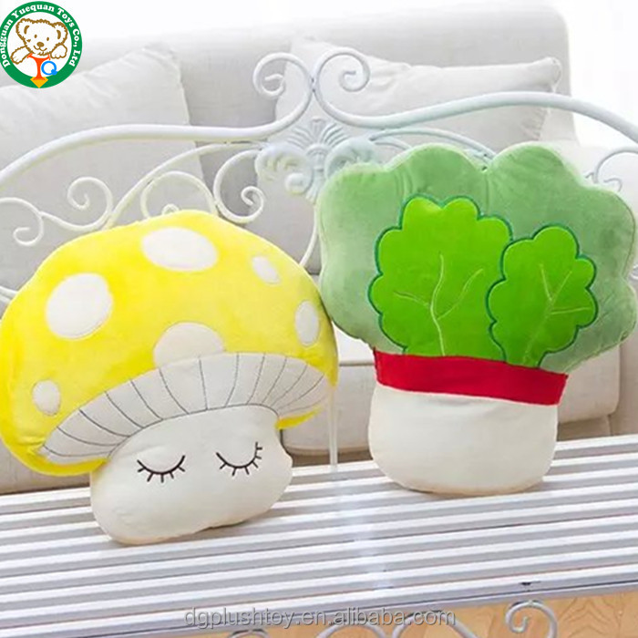Wholesale design vegetable brassica pekinensis mushroom plush toy