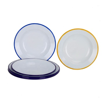 Custom food grade enamel plates Enamel camping dishes