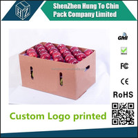 China Factory OEM corrugated cardboard apfel karton