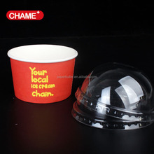 paper ice cream packaging, frozen yogurt cup with dome lids
