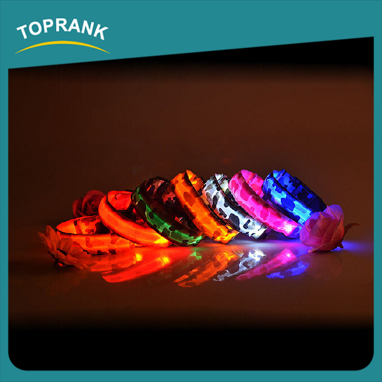 Cheap wholesale luminous led dog collar making supplies pet supply