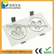 Recessed 3W*2P led outdoor ceiling light fixtures