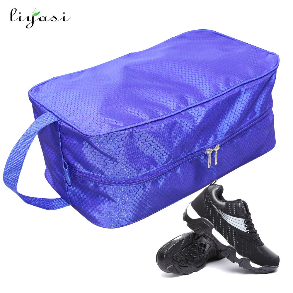 Wholesale custom gym travel waterproof storage dust sports golf shoe bag with zipper