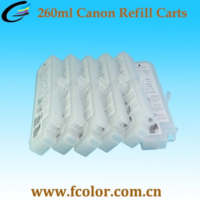 260ml Recharge Ink Cartridge PFI 106 for Canon iPF6450 iPF6400 iPF6460 iPF6410 Printer Cartridge