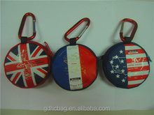 Hot Selling British Style Canvas Mini Round Coin Purses