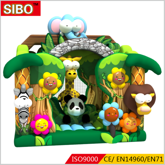 Factory price kids animal house air bouncer inflatable trampoline inflatable jumping bouncer