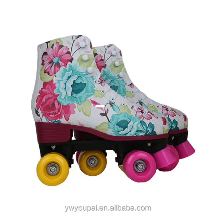 Youpai wholesale adjustable PP composite colorful roller quad skate for girls