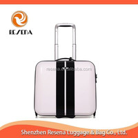 White with Black ABS+PC 19 Inch Laptop Bag