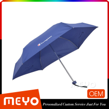 Promotional 5 fold small light umbrella with PVC box