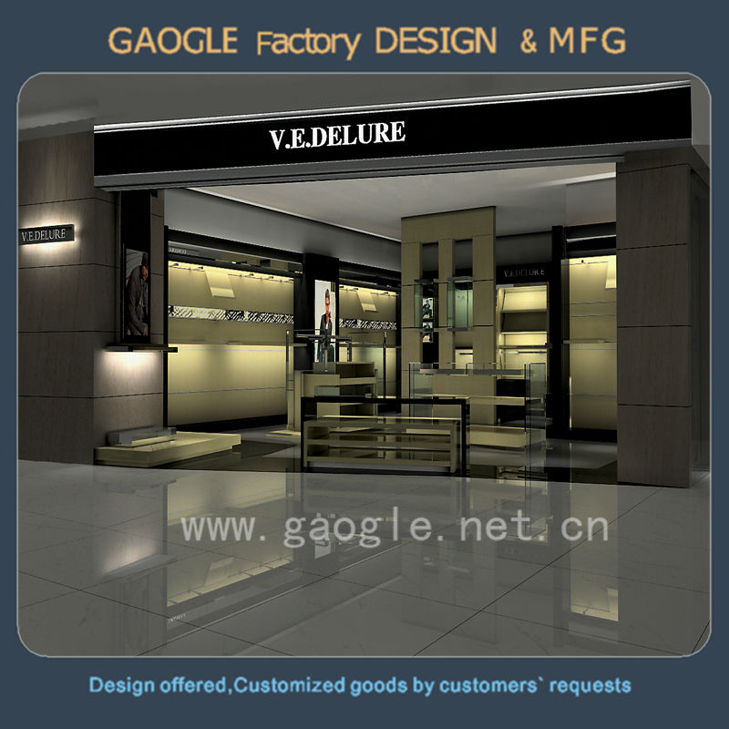 Newest design decoration clothes stores for men'suit display with low price