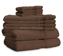 900 Gram Towel Set Egyptian Brown Color Cotton Towels by Exceptional Sheets