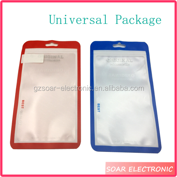 [Soar]Universal Retail Mobile Phone Case Packaging Plastic Bags With Zipper