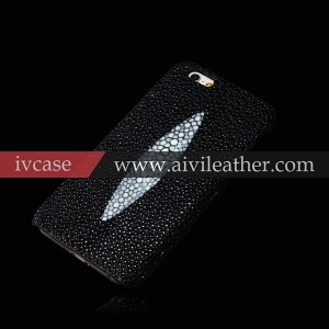genuine stingray skin case for iphone 6s ,stingray fish skin , genuine stingray leather case for iphone 6s