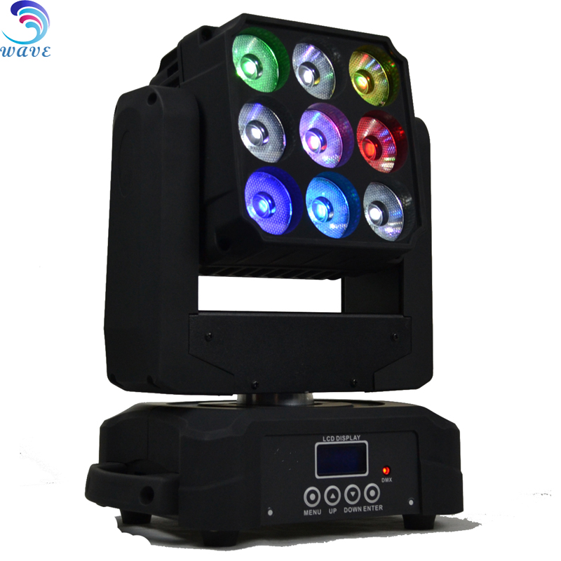 Cool White led 3*3 12w Rgbw Matrix Pixel Wash Beam Moving Head For Sale
