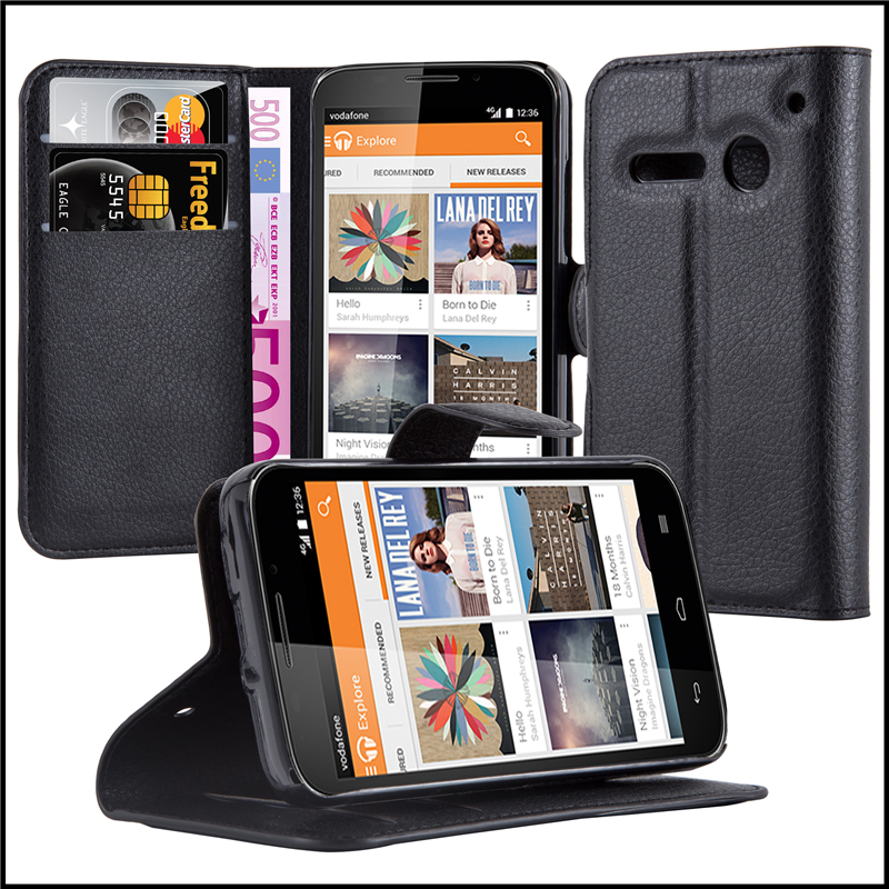 Wallet Leather Moblie Phone Case Cover with Card Slots for Vodafone Smart 4 Mini