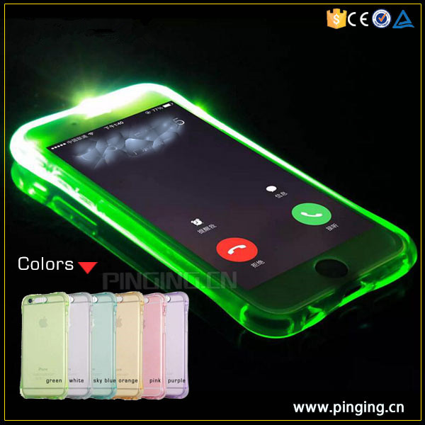 incoming call remind flash stars case for iphone 6 6s 7 7 plus led selfie phone case wholesale