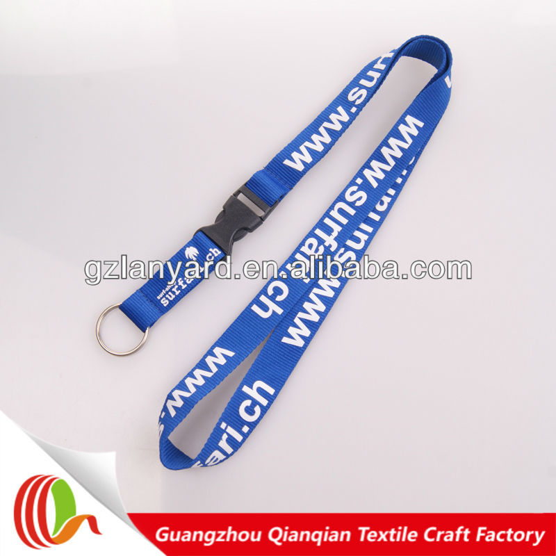 New gadgets 2014 custom polyester lanyard safety breakaway