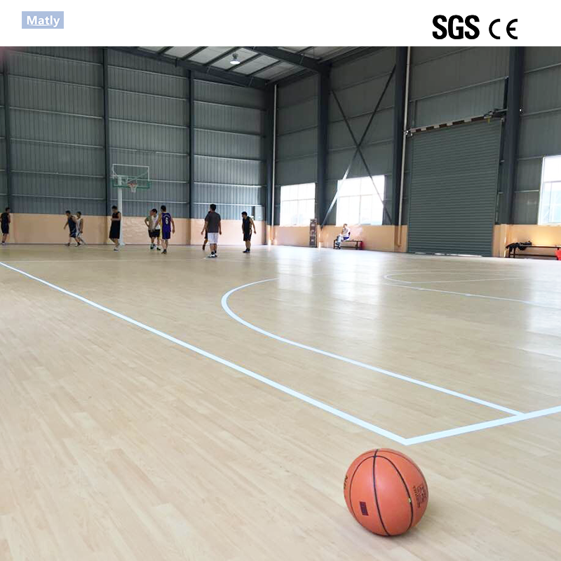 Noise Reduction PVC Flooring for Indoor Basketball Court