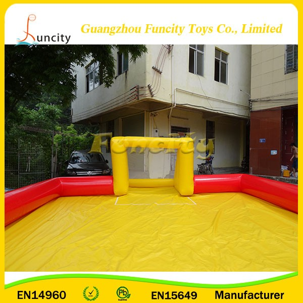 hot sale customized inflatable sports game training and available for entertainment football field