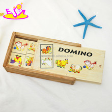 New kids domino toy for kids,educational wooden kids domino for children,hot sale kids domino set WJ277619