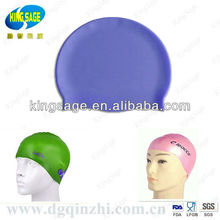 manufacture custom oem novelty college water proof silicone ear swimming cap